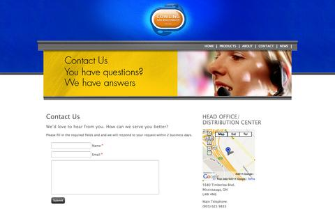 Screenshot of Contact Page goodtimesbrand.com - Contact - captured Oct. 1, 2014