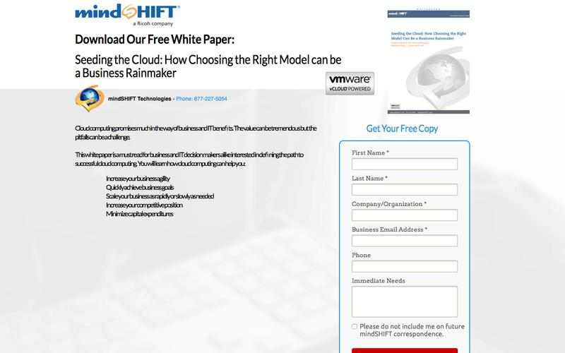 Whitepaper - Seeding the Cloud: How Choosing the Right Model can be a Business Rainmaker
