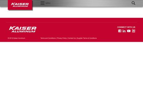Screenshot of About Page kaiseraluminum.com - About Us – Kaiser Aluminum - captured April 21, 2018