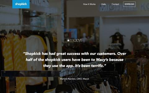 Screenshot of Press Page shopkick.com - Press | shopkick - captured Aug. 18, 2016
