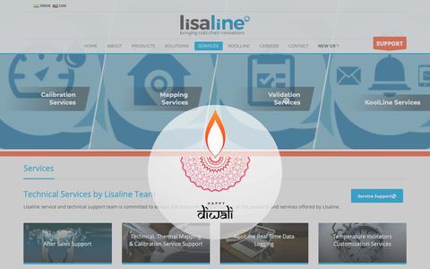 Screenshot of Services Page lisalineasia.com - Services - Lisaline Lifescience Technologies - captured Nov. 10, 2018