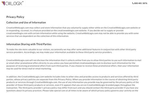 CreativeWebLogix's Privacy Policy: Web & Mobile Development Company