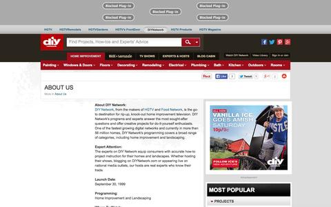 Screenshot of About Page diynetwork.com - About Us : About Us : DIY Network - captured Oct. 29, 2014