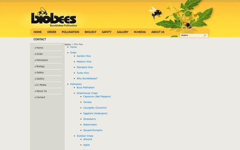 Screenshot of Site Map Page biobees.co.nz - Site Map - captured Oct. 5, 2018