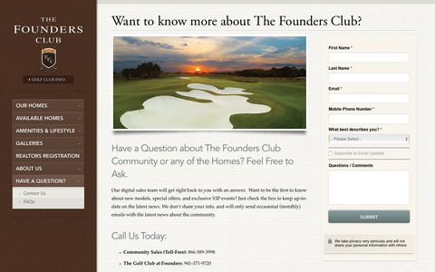 Screenshot of Contact Page Maps & Directions Page thefoundersclub.com - Contact Us for More Info About Sarasota Luxury Homes - captured Jan. 27, 2018