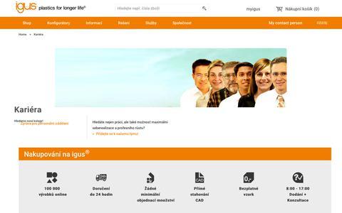 Screenshot of Jobs Page igus.cz - igus® - captured Sept. 22, 2018