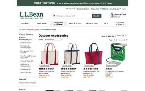 Outdoor Accessories | Free Shipping at L.L.Bean.