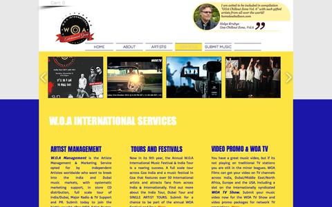Screenshot of Services Page woarecords.com - WOA International Record Label Services - captured Oct. 26, 2017
