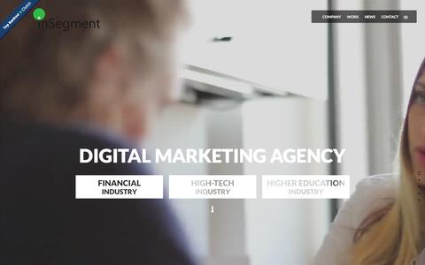 Screenshot of Home Page insegment.com - Boston Full Service Digital Marketing and Advertising Agency - captured Feb. 2, 2016
