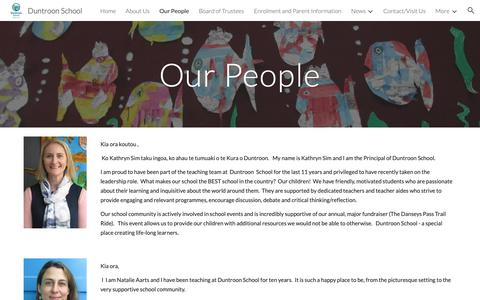 Screenshot of Team Page google.com - Duntroon School - Our People - captured Oct. 28, 2018