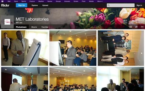 Screenshot of Flickr Page flickr.com - Flickr: MET Labs' Photostream - captured Oct. 23, 2014