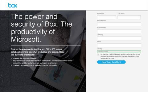 Screenshot of Landing Page box.com - Box - captured March 25, 2016