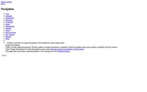 Screenshot of Press Page mcachicago.org - MCA – Press Room - captured Sept. 23, 2018