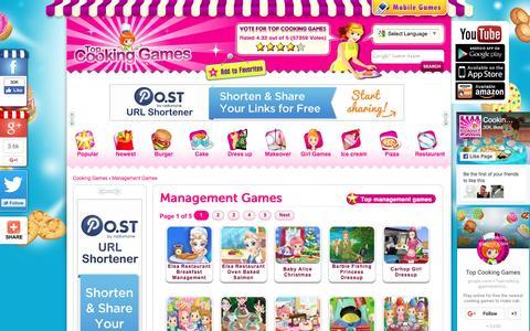 Screenshot of Team Page topcookinggames.com - Management Game - Free Online Management Games - captured Nov. 27, 2016