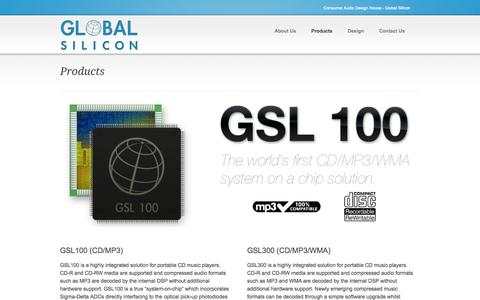 Screenshot of Products Page global-silicon.com - Products ‹ Global Silicon - captured Oct. 8, 2014