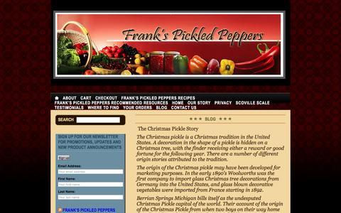 Screenshot of Blog frankspickledpeppers.com - Frank's Pickled Peppers - captured Aug. 4, 2016