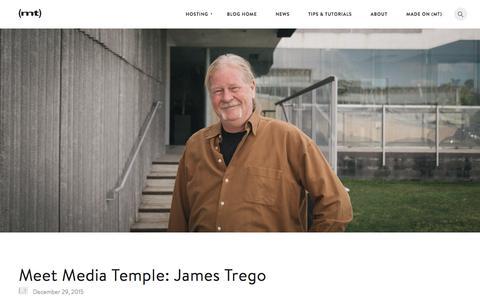 Screenshot of Blog mediatemple.net - Meet Media Temple: James Trego - The Media Temple Blog - captured Dec. 31, 2015