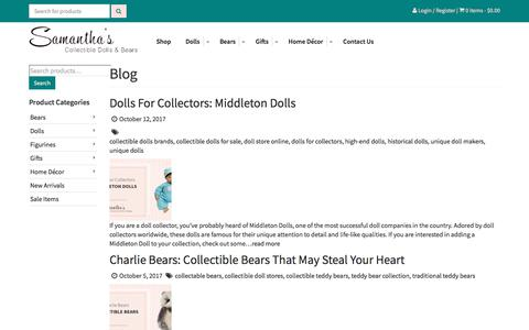 Screenshot of Blog samanthasdolls.com - Blog - Samantha's DollsSamantha's Dolls - captured Oct. 31, 2017