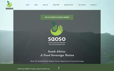 Screenshot of Signup Page saoso.org - South African Organic Sector Organisation | Become a Member - captured March 23, 2017