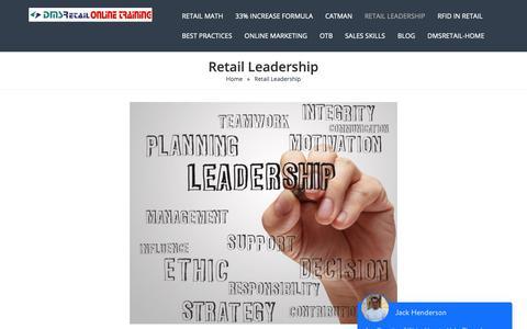Screenshot of Team Page dmsretail.com - Retail Leadership - captured Nov. 22, 2018