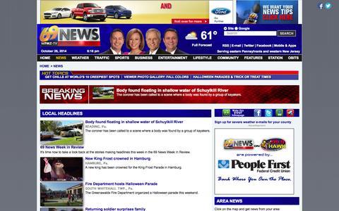Screenshot of Press Page wfmz.com - WFMZ | Allentown, PA News, Lehigh Valley, Eastern Pennsylvania News, Weather, Sports | 69 News - captured Oct. 26, 2014