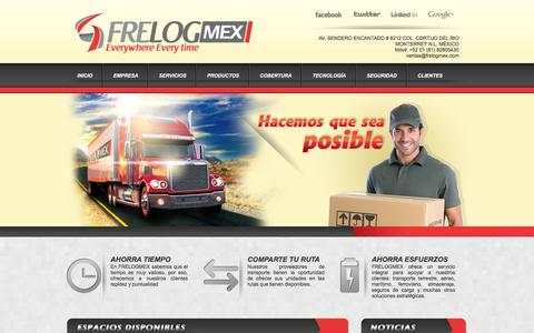 Screenshot of Home Page frelogmex.com - FrelogMex | Fletes Nacionales e Internacionales, Cargas aseguradas y Cargas especiales. - captured Feb. 9, 2016