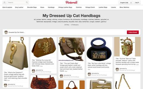 Screenshot of Pinterest Page pinterest.com - My Dressed Up Cat Handbags on Pinterest | 25 Pins - captured Nov. 3, 2014