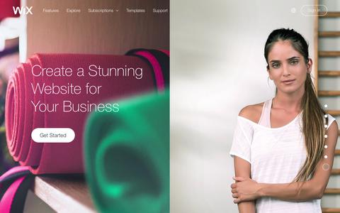 Screenshot of Services Page wix.com - Business Website Builder | Create a Website for Small Business | Wix - captured July 1, 2017