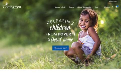 Screenshot of Home Page compassion.com.au - Release a child from poverty in Jesus' name   Compassion Australia - captured Aug. 18, 2017