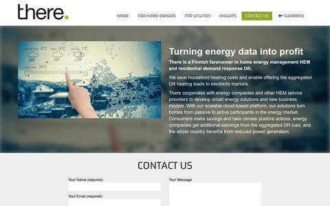 Screenshot of Contact Page therecorporation.com - We bring intelligence to the smart grid. Today | There Corporation - captured July 13, 2018