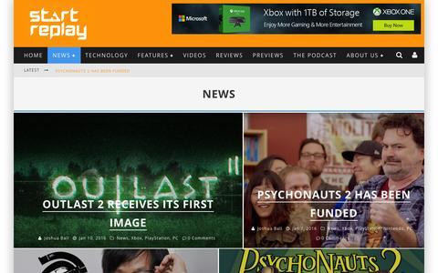 Screenshot of Press Page startreplay.com - News Đ Start Replay - captured Jan. 13, 2016
