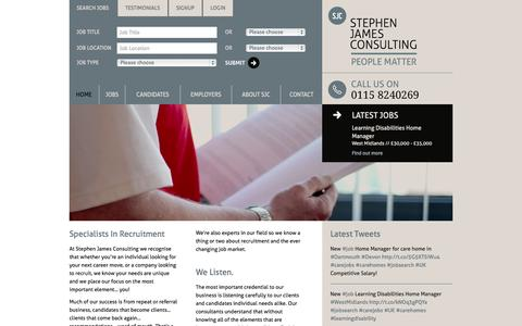 Screenshot of Login Page stephenjamesconsulting.co.uk - Stephen James Consulting - Professional recruitment solutions - captured Nov. 5, 2014