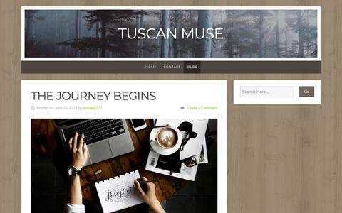 Screenshot of Blog wordpress.com - Blog – Tuscan Muse - captured Nov. 27, 2018