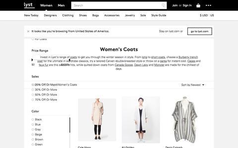 Coats for Women - Shop Winter Trench Coats, Capes & Fur