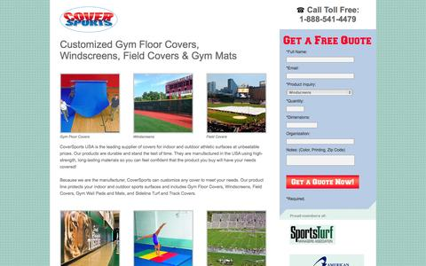 Screenshot of Landing Page coversports.com - COVER SPORTS USA - captured Oct. 27, 2014