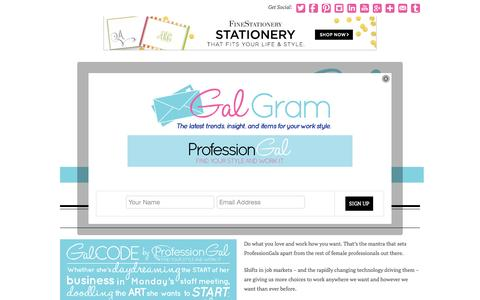Screenshot of About Page professiongal.com - About - ProfessionGal - captured Oct. 3, 2014