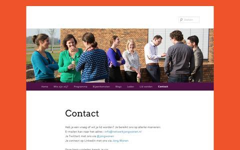 Screenshot of Contact Page wordpress.com - Contact | - captured Sept. 12, 2014