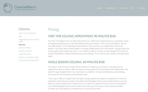 Screenshot of Pricing Page cleansemarin.com - Pricing — CleanseMarin - captured July 19, 2018