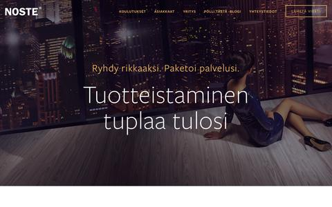 Screenshot of Home Page noste.fi - Noste Oy - captured Aug. 13, 2015