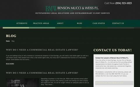 Screenshot of Blog bmwlawyers.net - Construction Lawyer Blog Coral Springs | Real Estate Lawyer - captured Feb. 7, 2016