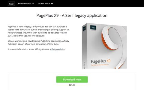 PagePlus X9 - A Serif legacy application