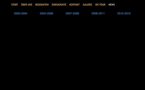 Screenshot of Press Page howdy.ch - 2003-2004 | News categories | HOWDY - captured June 10, 2016