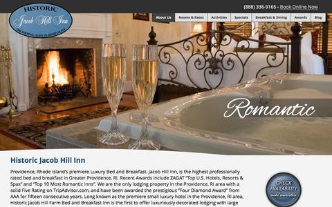Screenshot of Home Page inn-providence-ri.com - Historic Jacob Hill Inn - Providence, RI Premiere Bed & Breakfast » Providence, RI's Top Anniversary & Romantic Getaway Destination - captured June 23, 2016