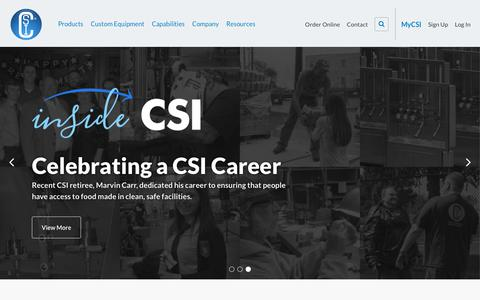 Screenshot of Home Page csidesigns.com - Homepage - captured Sept. 27, 2018