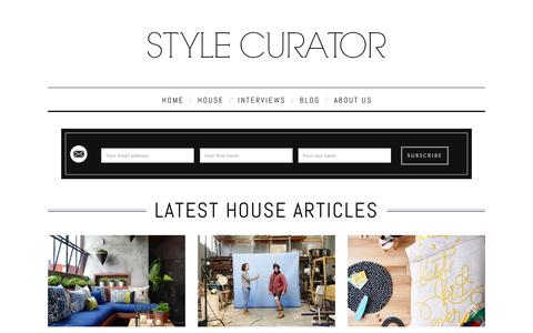 Screenshot of Home Page stylecurator.com.au - STYLE CURATOR - latest home decorating, design, DIYs, home tours and interviews with people in the industrySTYLE CURATOR - captured Sept. 30, 2014