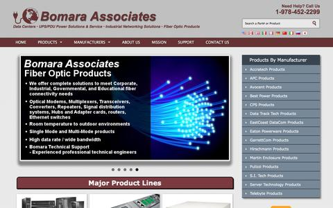 Screenshot of Home Page bomara.com - Bomara Associates: Worldwide UPS Power & Networking Products - captured Nov. 22, 2016
