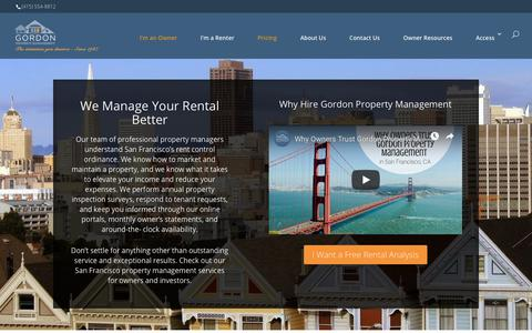 Screenshot of Pricing Page gpmsf.com - San Francisco Property Management Services for Owners and Investors - captured April 7, 2019