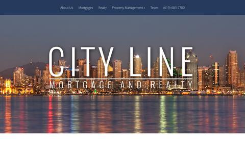 Screenshot of Home Page citylinemortgage.com - City Line Mortgage and Realty | - captured July 31, 2017