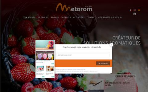 Screenshot of Home Page metarom.com - Accueil - Metarom - captured Oct. 18, 2017
