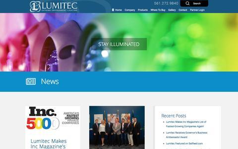 Screenshot of Blog lumiteclighting.com - Lumitec Lighting  Blog - Lumitec Lighting - captured Aug. 31, 2016